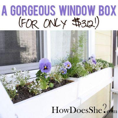 Gorgeous DIY Window Box Idea
