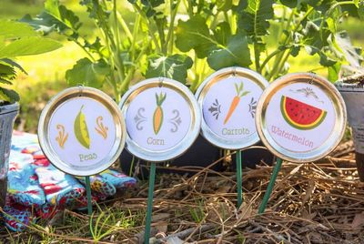 How To Make Diy Garden Stakes Using Mason Jar Lids