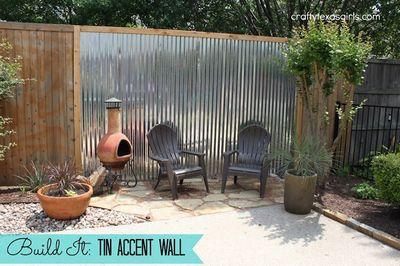 Make A DIY Tin Accent Wall Craft