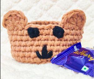 Teddy Bear Basket Crochet Pattern