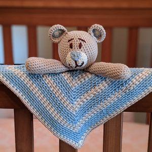Teddy Bear Lovey Crochet Pattern