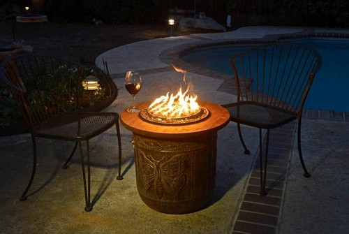 The Portable Propane Flower Pot Fire Pit