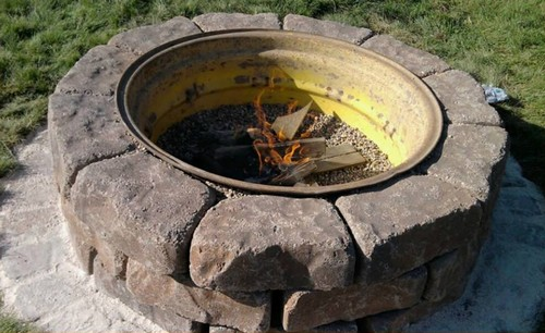 The Tractor Wheel Fire Pit