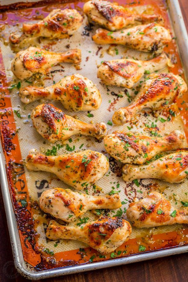 Baked Chicken Legs with Garlic and Dijon