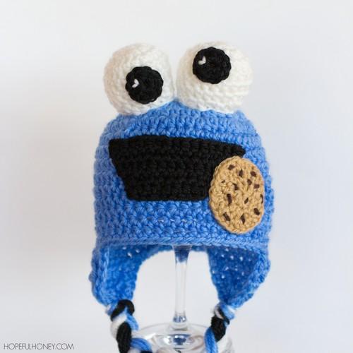 Crochet Cookie Monster Baby Hat