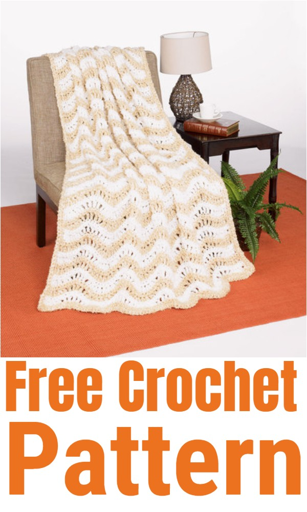 Crochet Crested Wave Afghan