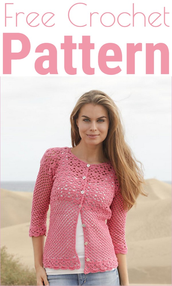 Crochet Jacket Summer Blush Free Pattern