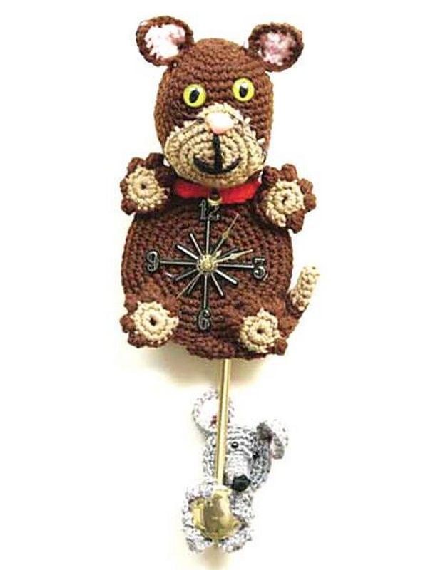 Crochet Kooky Kat Clock