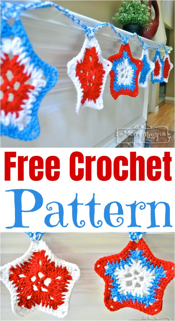 Crochet Star Spangled Banner Free Pattern