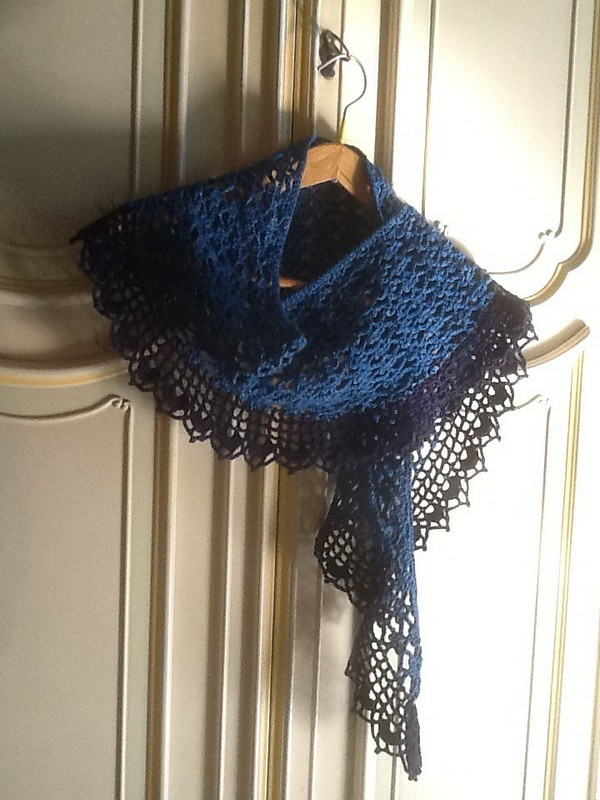 Crochet Summer Sprigs Lace Scarf