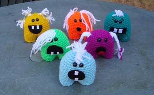 Crochet The Monsties Amigurumi Mini Monsters