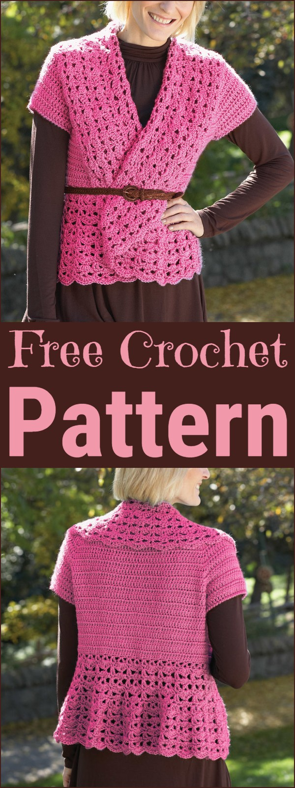 Crochet Vest With Shawl Collar