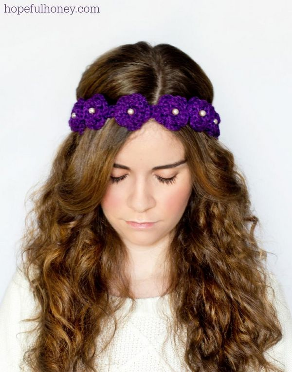 Daisy Flower Crown Crochet Pattern