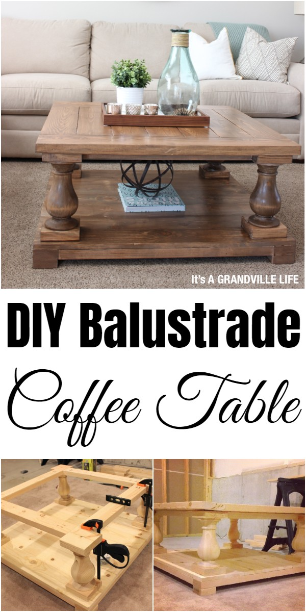 DIY Balustrade Coffee Table