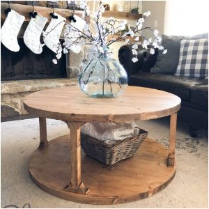 DIY Farmhouse Coffee Table & Plan