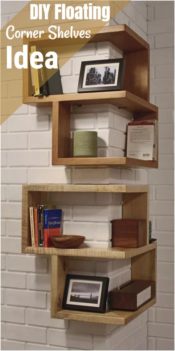 DIY Floating Corner Shelves Idea
