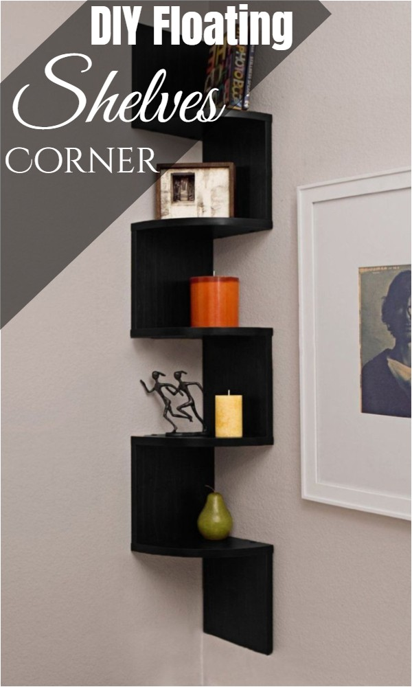DIY Floating Shelves Corner