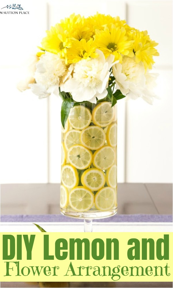 DIY Lemon and Flower Arrangement