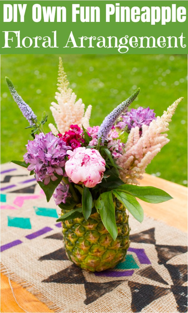 DIY Own Fun Pineapple Floral Arrangement