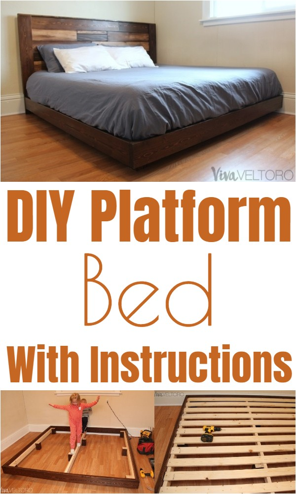 DIY Platform Bed With Instructions