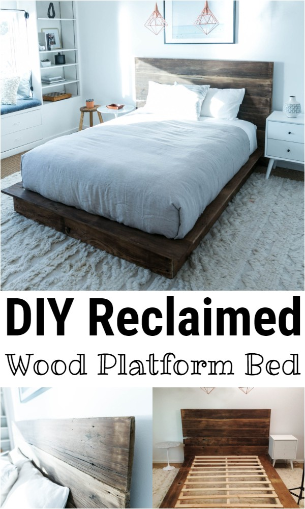 DIY Reclaimed Wood Platform Bed