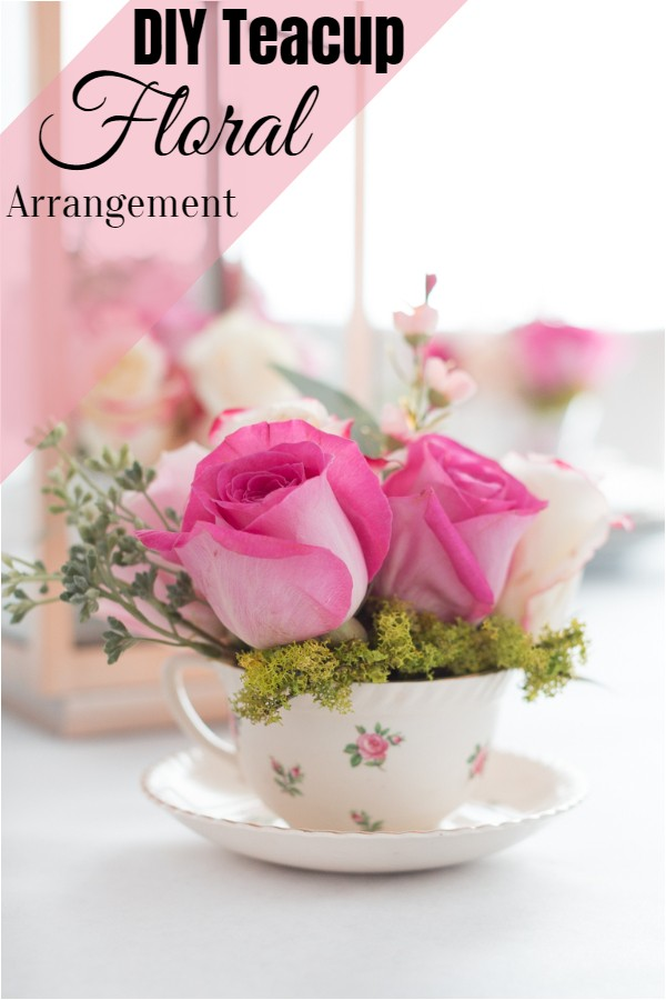 DIY Teacup Floral Arrangement