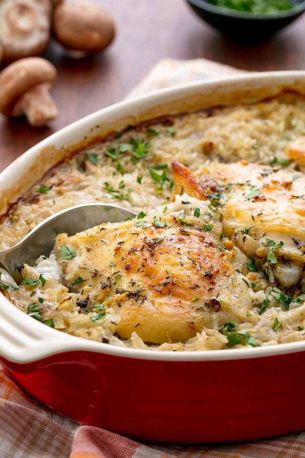 Easy Chicken and Rice Casserole