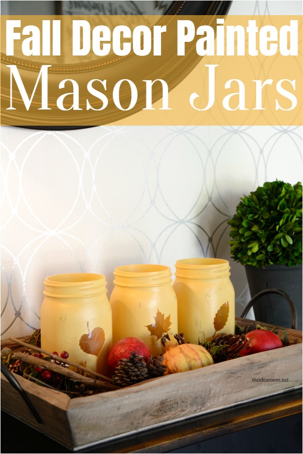 Fall Decor Painted Mason Jars