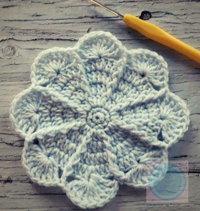 Free Crochet Around The Rosie Mandala Pattern