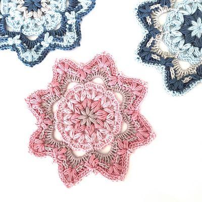 Free Crochet Midnight Blossom Mandala Pattern