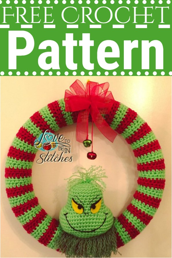 Grinch Wreath Christmas Crochet Pattern