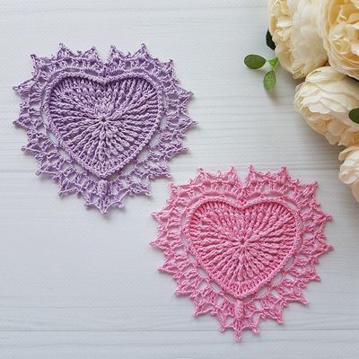 Heart Crochet Doily Pattern