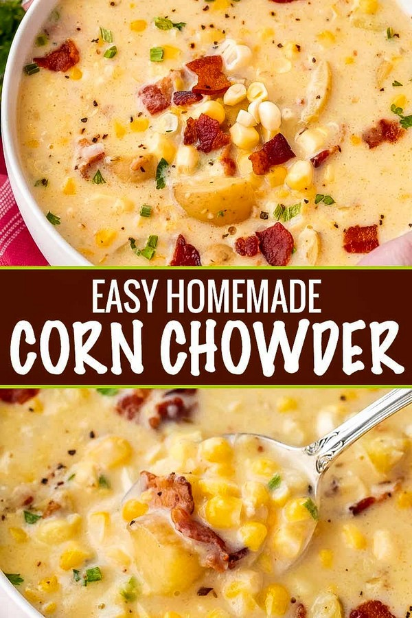 Hearty Homemade Corn Chowder Soup