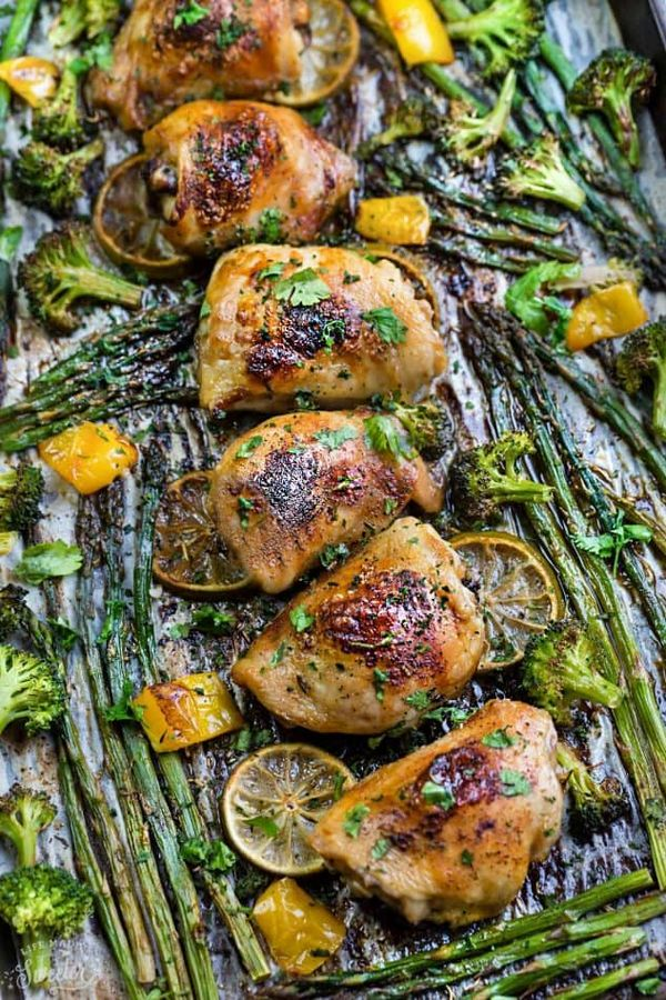 Honey Lime Chicken Sheet Pan With Asparagus +
