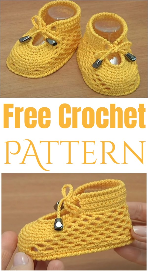 Learn To Crochet Baby Shoes