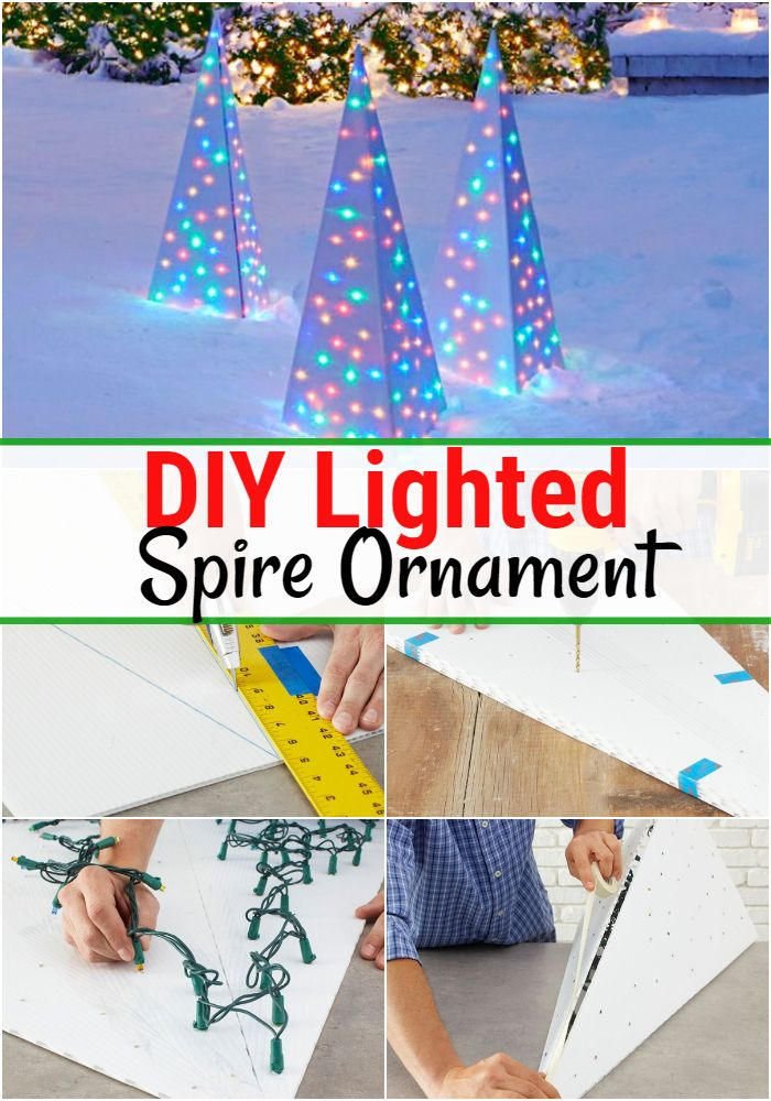 DIY Lighted Spire Ornament