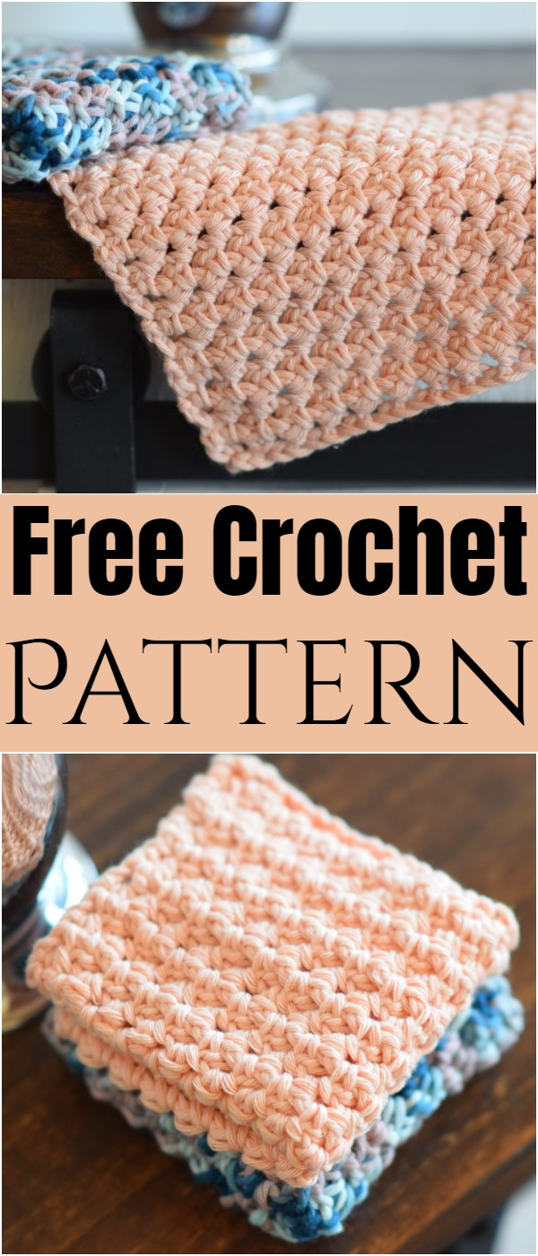 Little Clusters Washcloth Crochet Pattern
