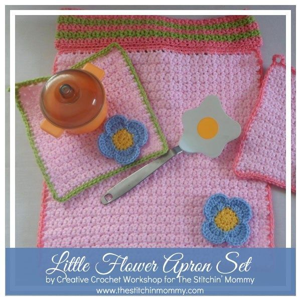 Little Flower Apron Set