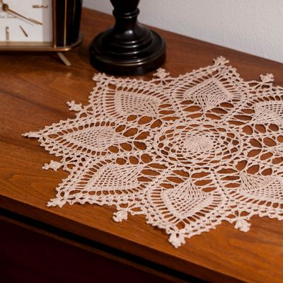 Pineapple Symphony Crochet Doily Pattern
