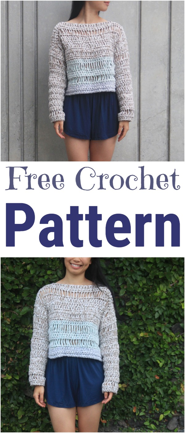 Sand Dune Sweater Free Crochet Pattern