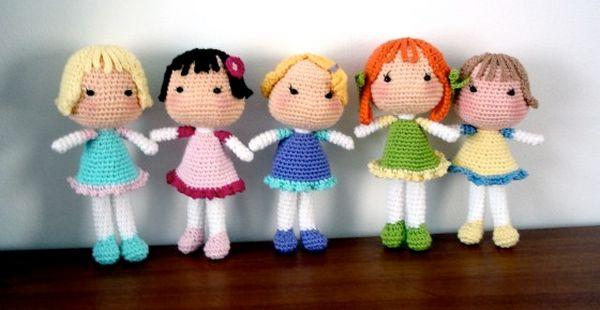 Sara, Lara and Sophie dolls
