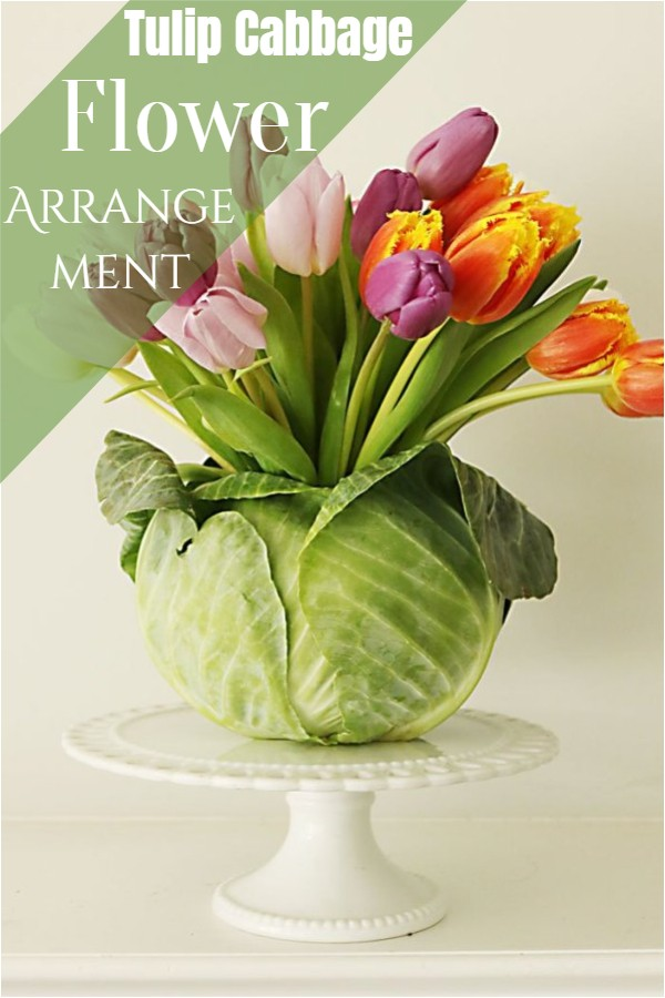 Tulip Cabbage Flower Arrangement