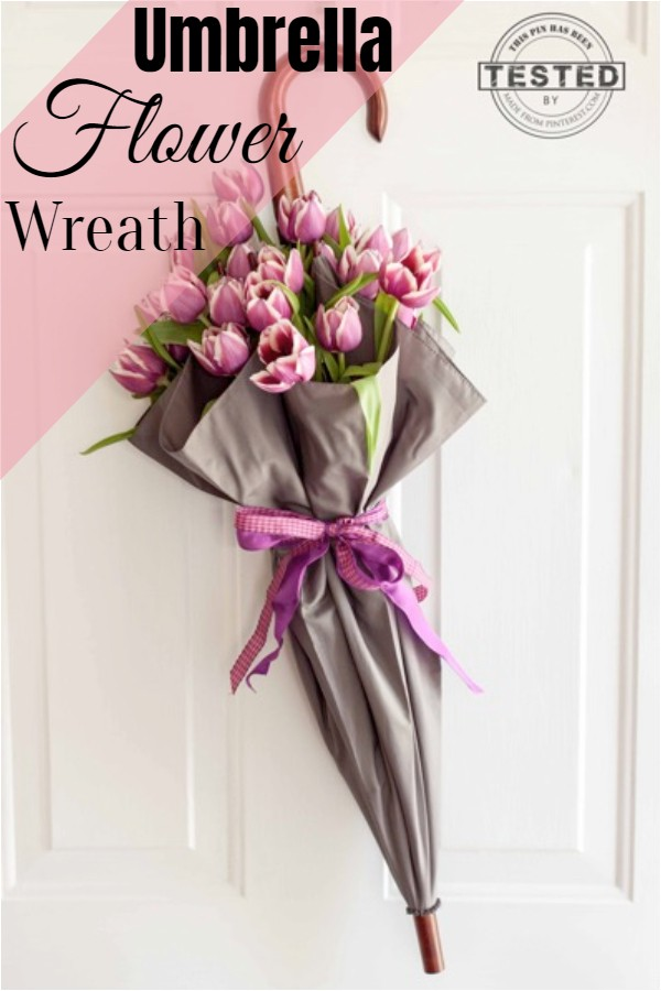 Umbrella Flower Wreath