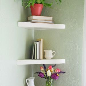 Unique DIY Floating Corner Shelves Ideas