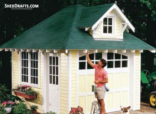10×12 Hip Roof Storage Shed Dormer Plans