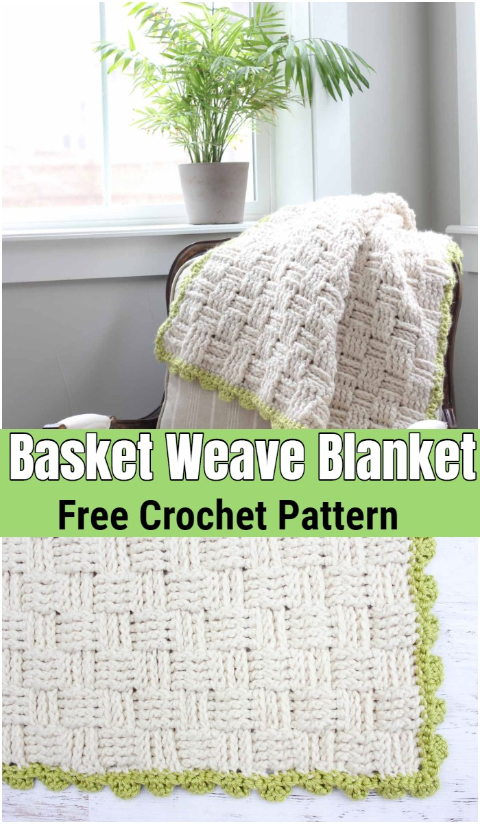 Crochet Basket Weave Blanket – Free Pattern