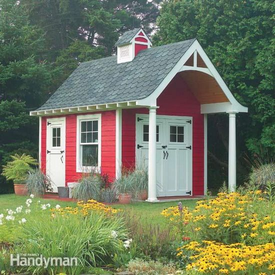 DIY Schoolhouse Storage Shed Idea