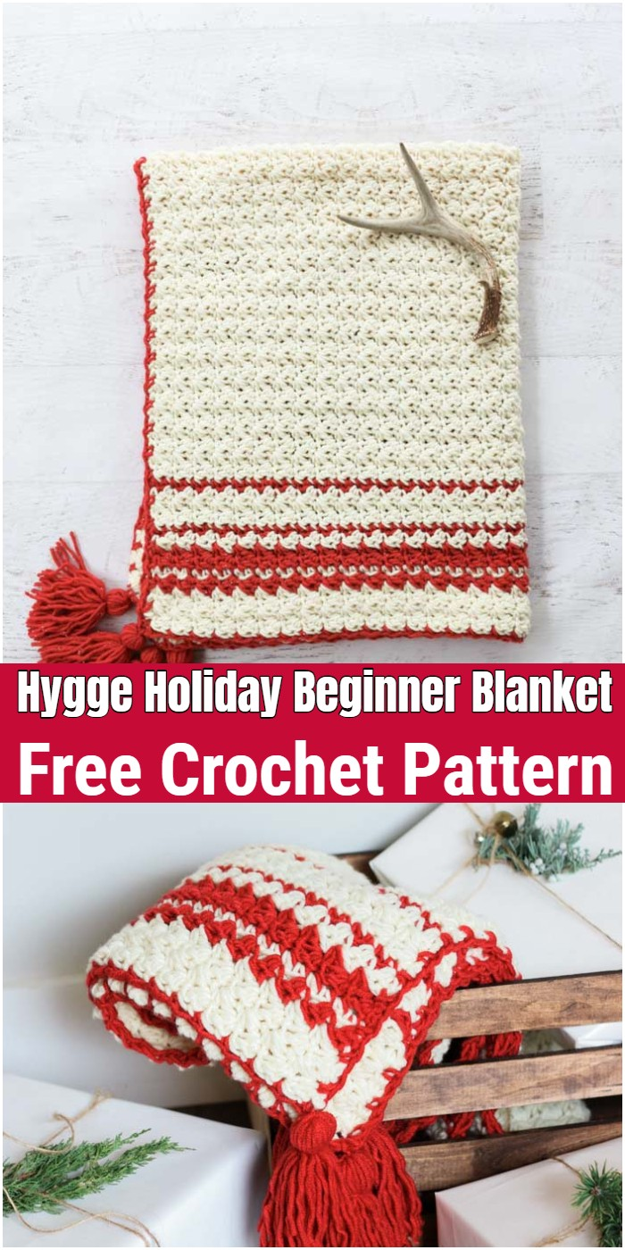 Hygge Holiday Free Beginner Crochet Blanket