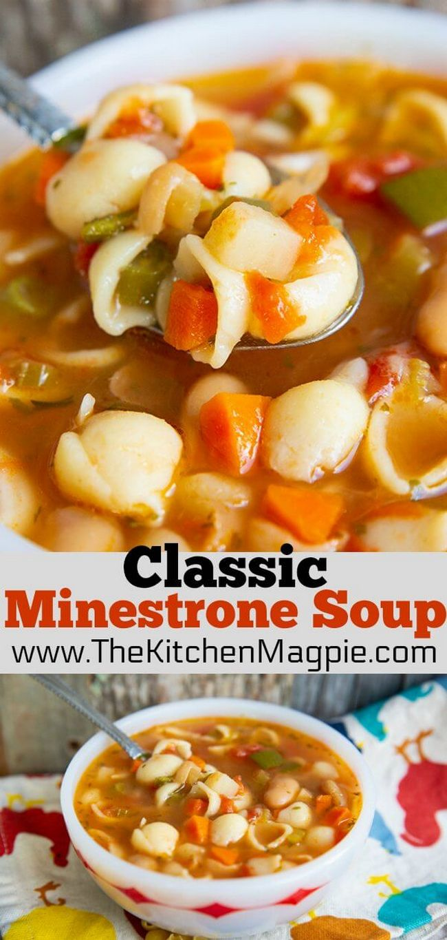 Classic Homemade Minestrone Soup Recipe