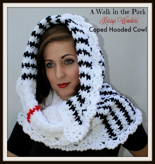 Crochet Caped Hooded Cowl